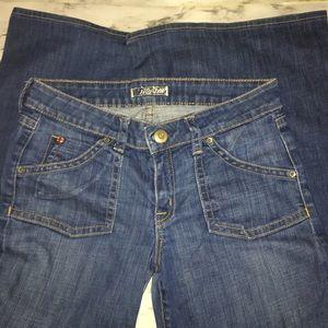 HUDSON wide leg/flare jean w/pocket flaps SIZE:29